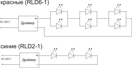схема включения светодиода RRB