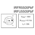 Мощный полевой транзистор IRFU5505PBF (IR) (I-pak)