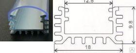Алюминиевый профиль анодированный прямой 045