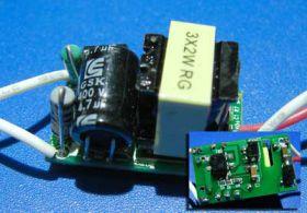 RLD2-3 Светодиодный драйвер 220 В, 3х2 Вт, 420-450 мА