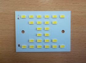Светодиодный модуль 65х48 мм , 24 LED, 70-80 В, 170 мА, 1440 Лм