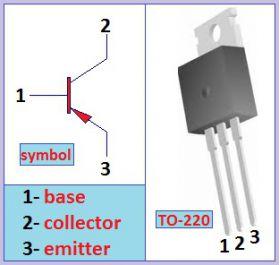 Мощный биполярный PNP транзистор TIP42C (ST) (TO220)